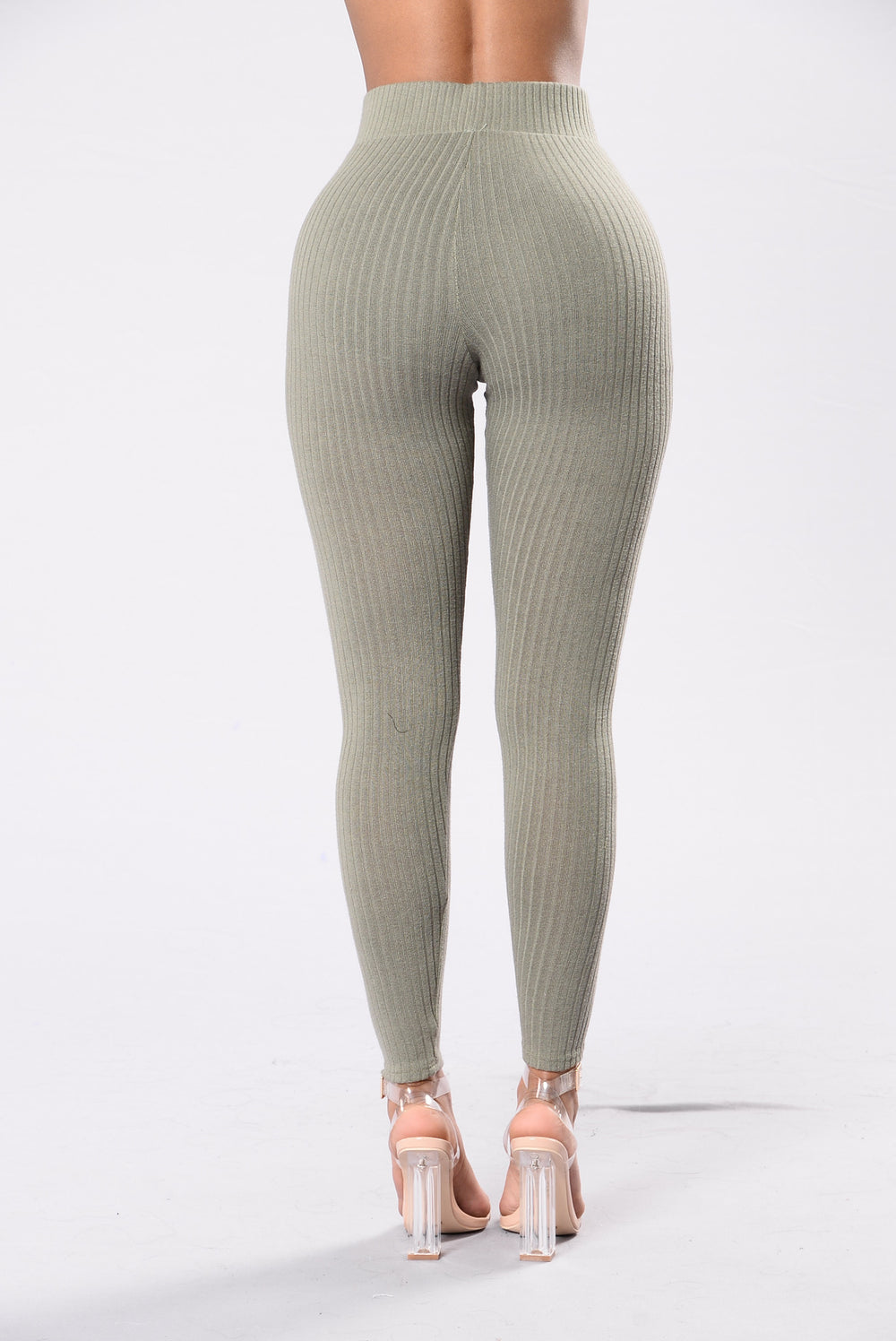 Can't Ignore Me Leggings - Olive