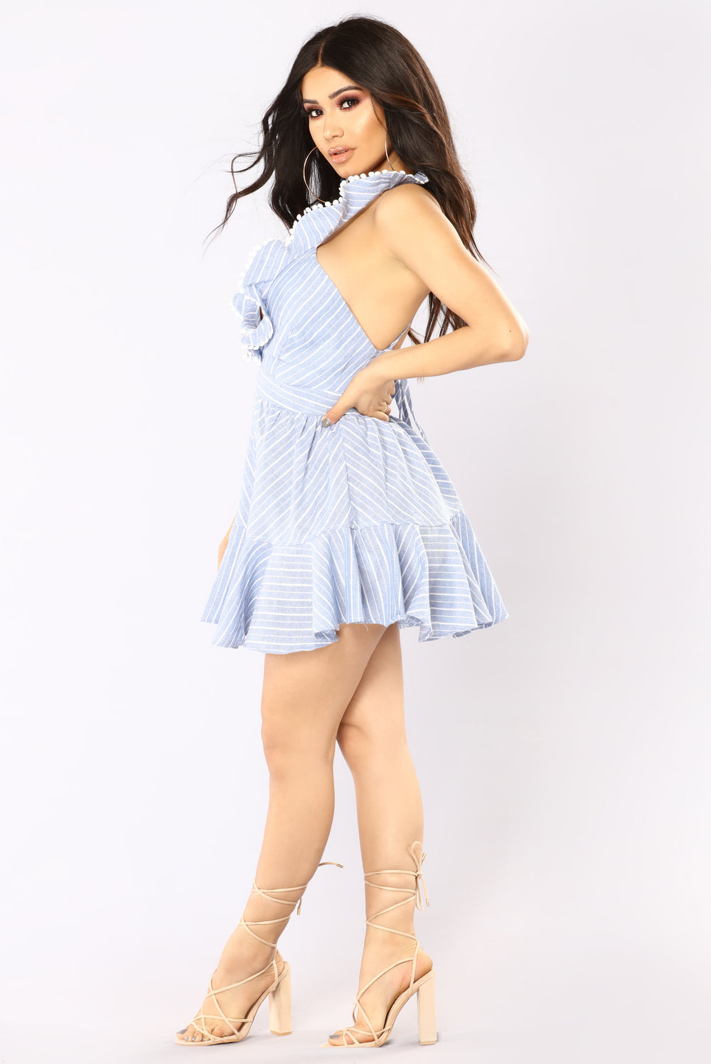 Want You Back Romper - Blue