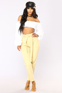 Jennifer Puff Sleeve Top - Off White