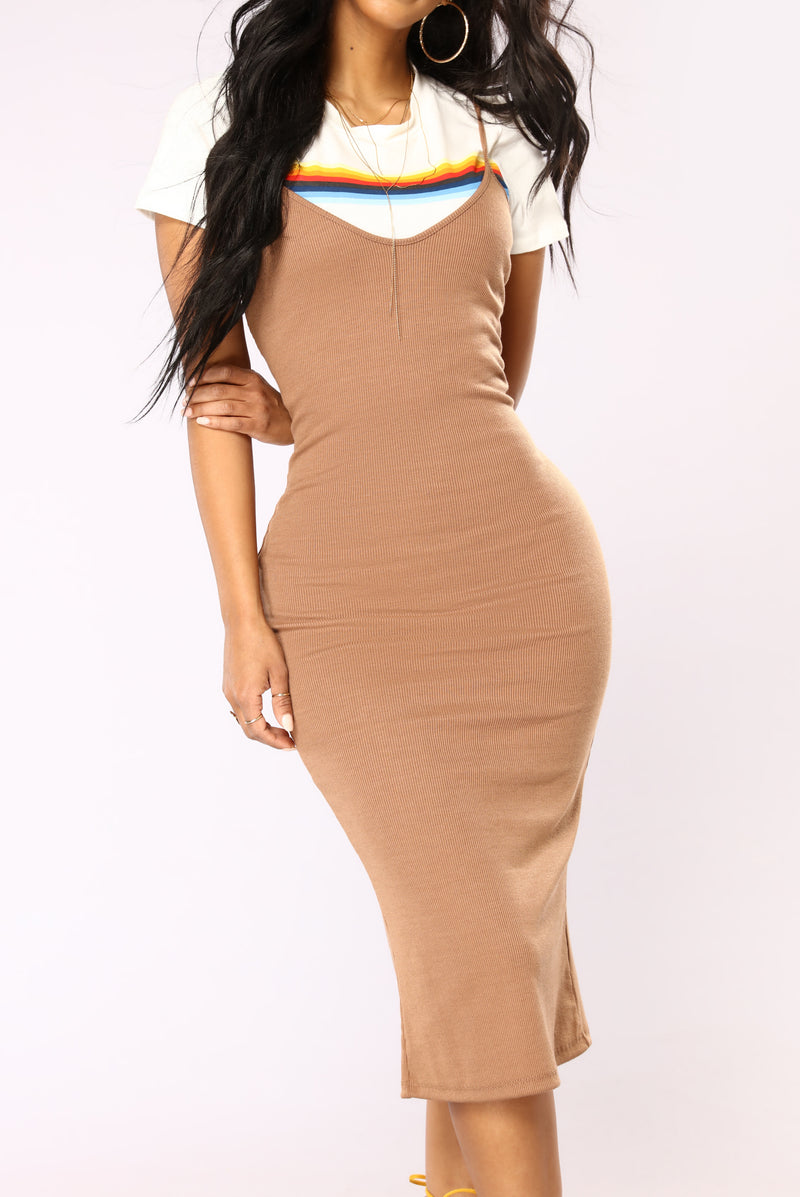 Madelon Dress - Light Brown