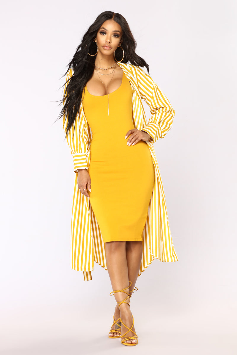 Jess Mini Dress - Mustard