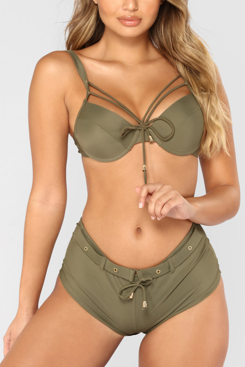 Somebody To Love Me Bikini - Olive