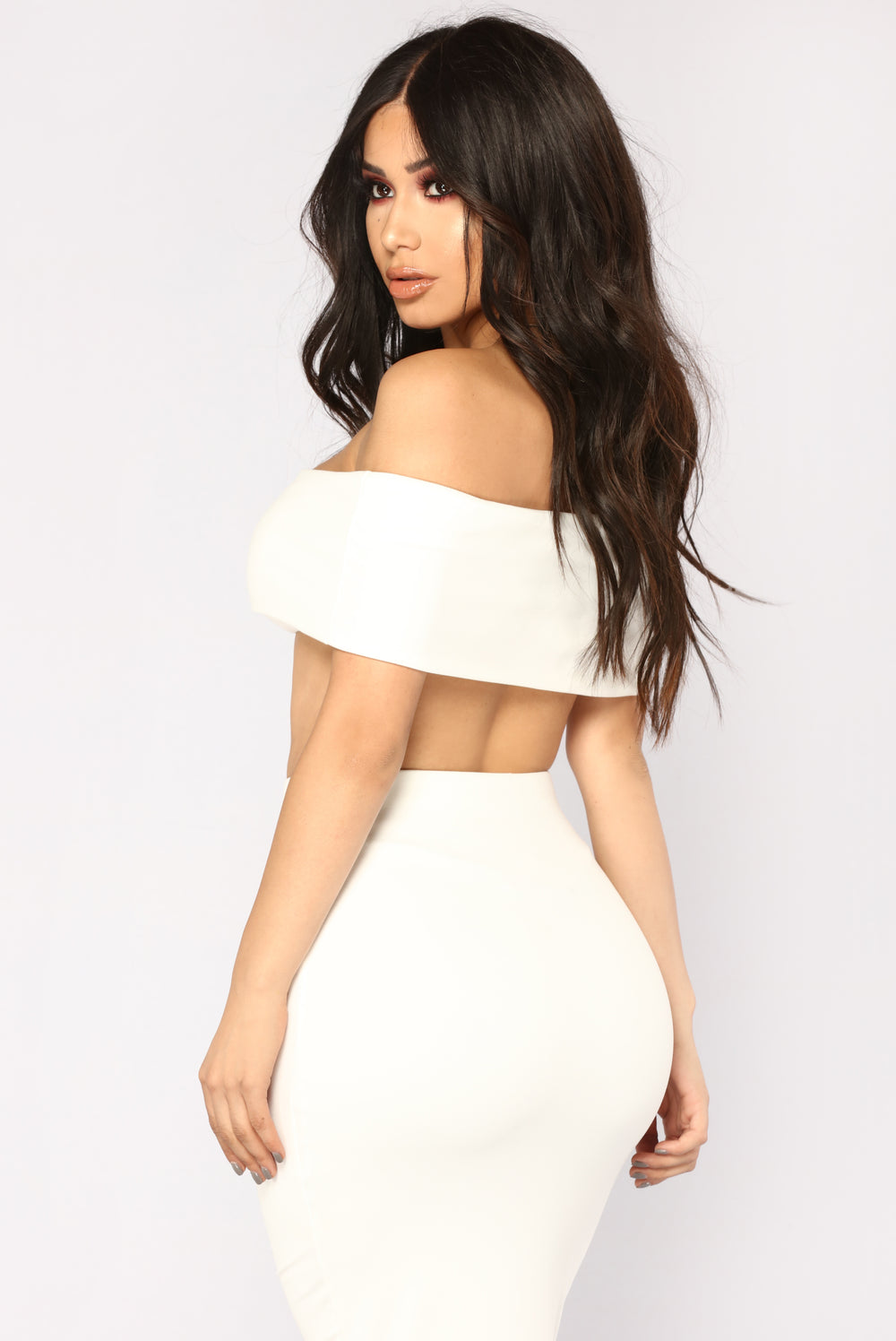 Not Welcome Off Shoulder Set - Ivory