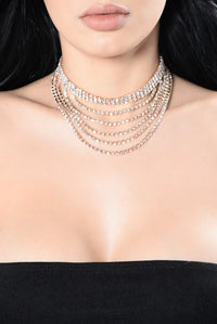 Drop Everything For You Choker - Rose Gold