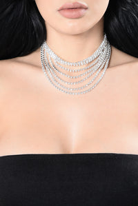 Drop Everything For You Choker - Silver
