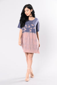 Amazed By You Tunic - Pink/Blue Angle 2