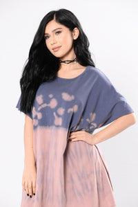 Amazed By You Tunic - Pink/Blue Angle 3