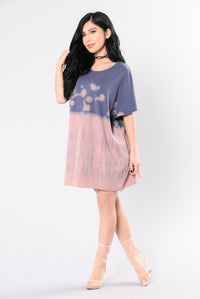 Amazed By You Tunic - Pink/Blue Angle 6