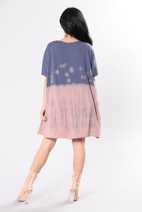 Amazed By You Tunic - Pink/Blue Angle 5