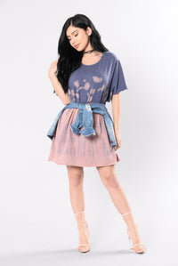 Amazed By You Tunic - Pink/Blue Angle 1