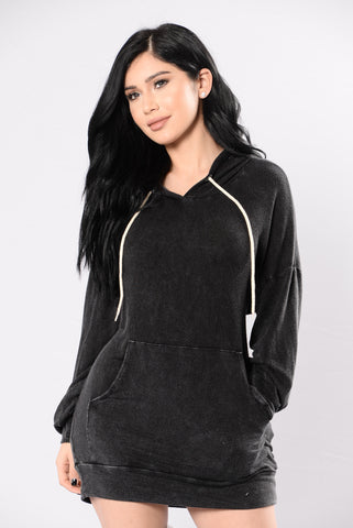 Back To Bed Tunic - Black
