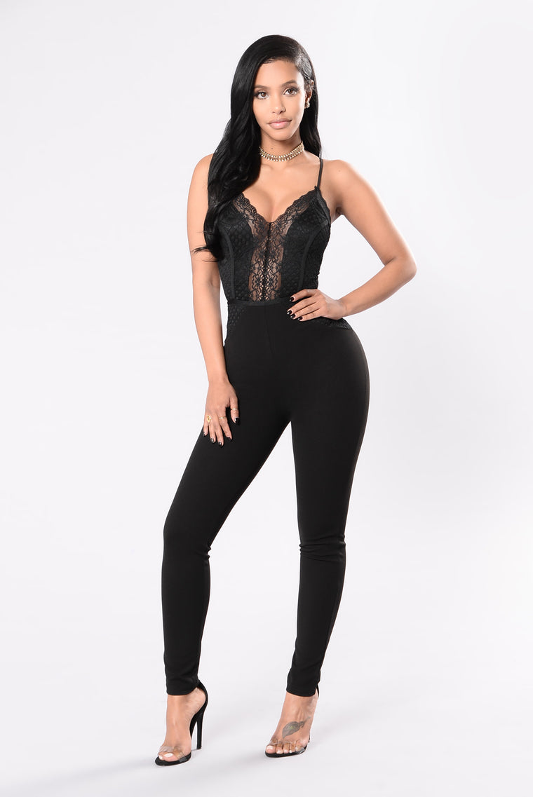 You're A Babe Jumpsuit - Black
