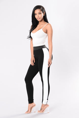 Can't Take My Place Leggings - Black/White