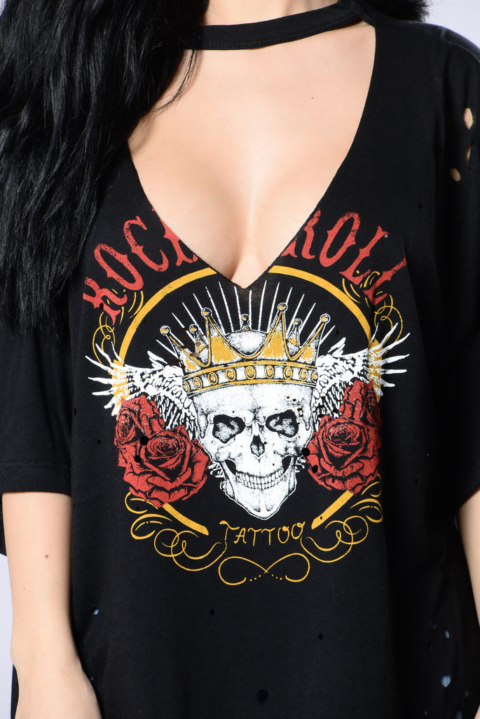 Never Dull Skull Tee - Black