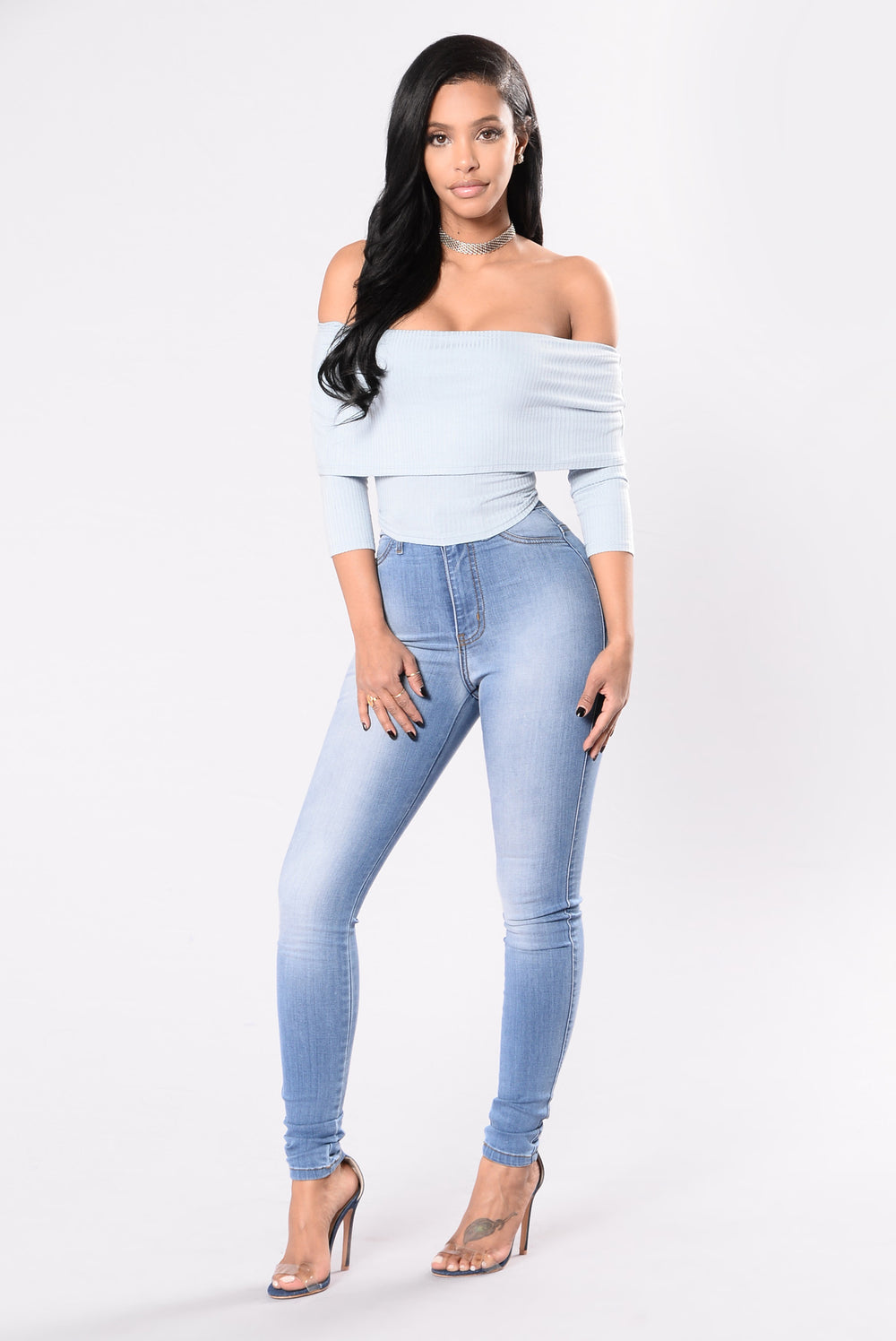 Be My Muse Top - Dusty Blue
