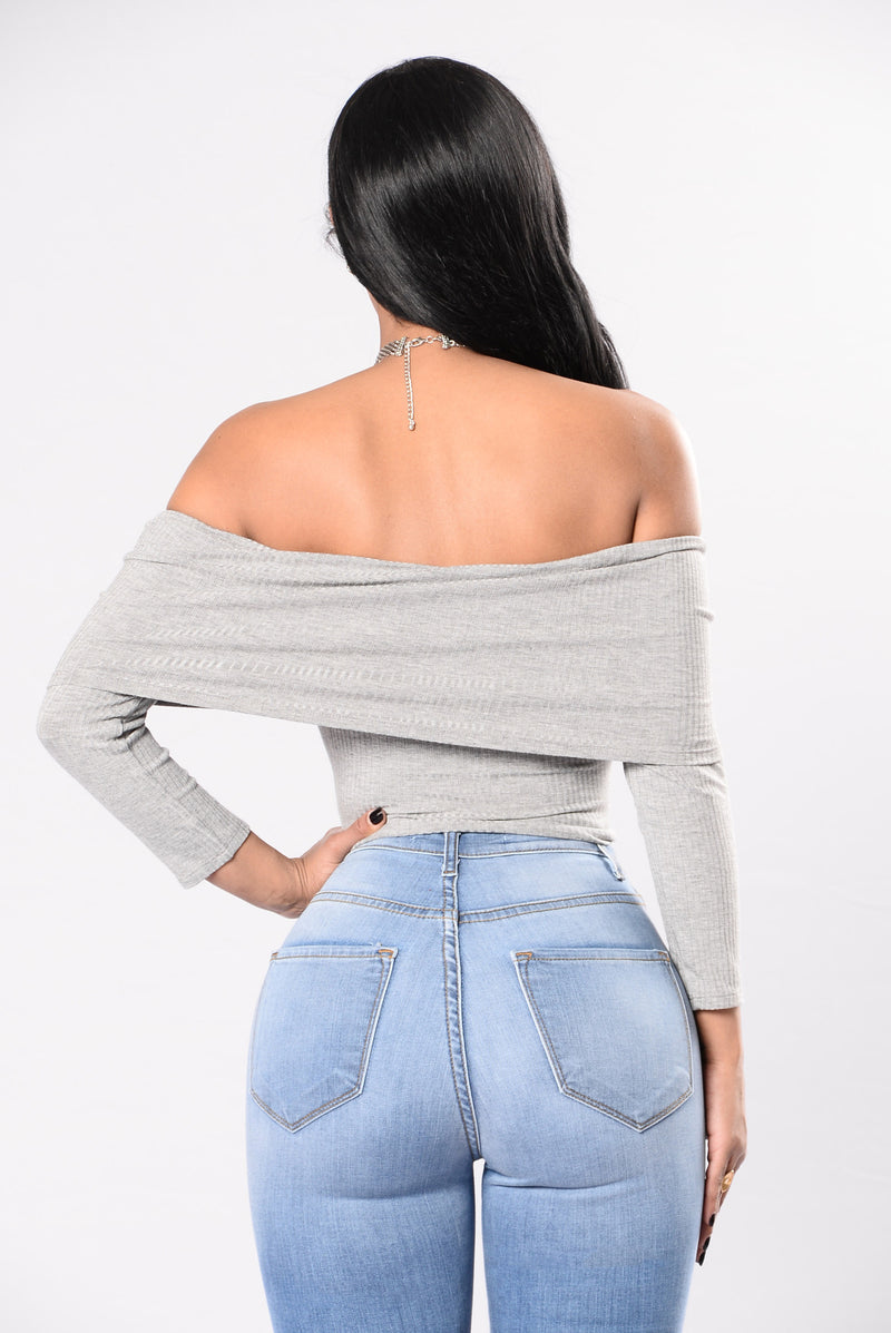 Be My Muse Top - Heather Grey