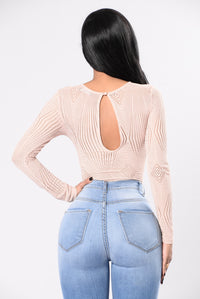 Makes Me Wanna Party Bodysuit - Nude