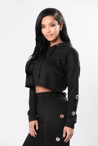 Shortie Like Mine Top - Black
