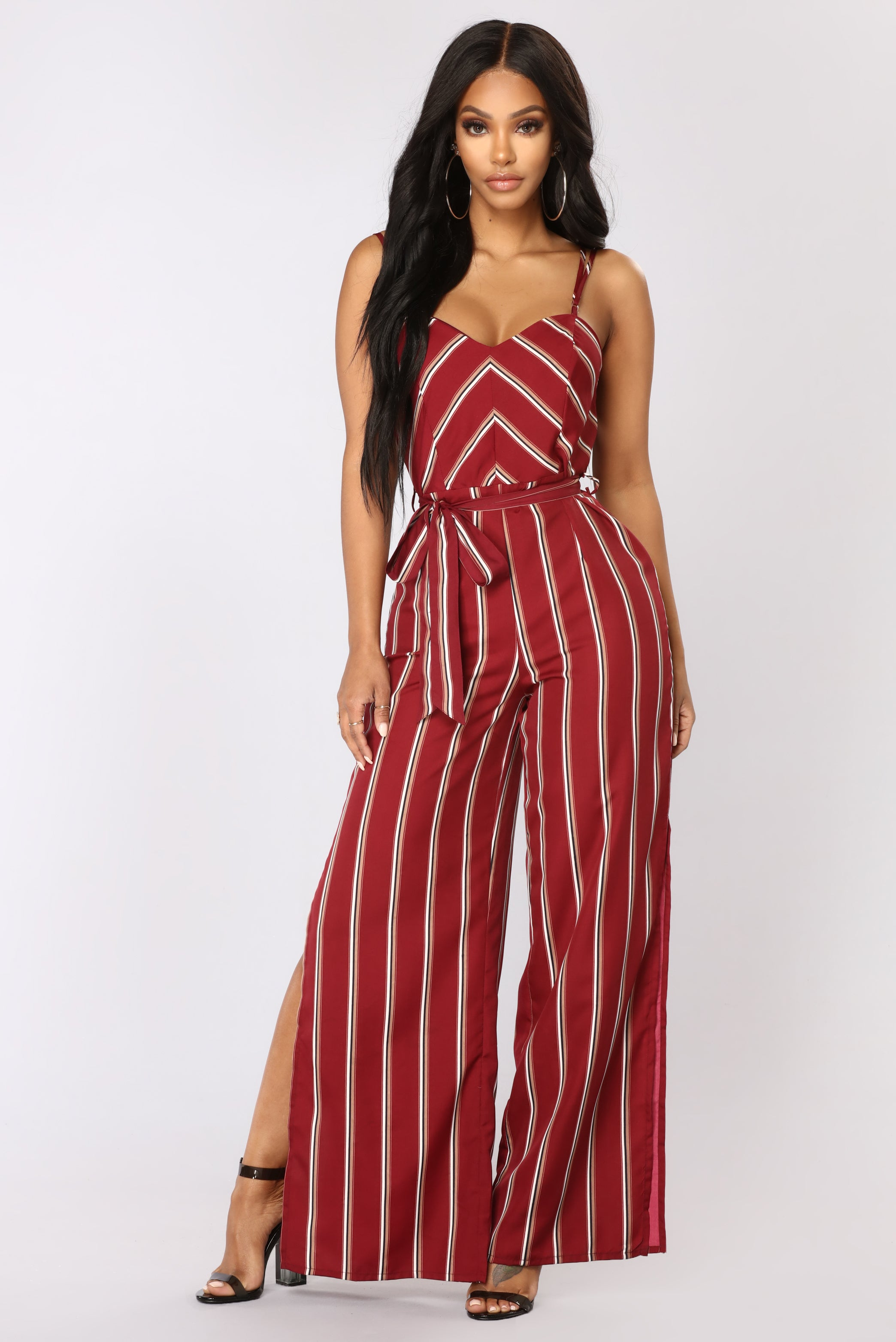 0aaa570494f3 Sharon stripe jumpsuit burgundy JPG 2088x3126 Fashion nova burgundy jumpsuit