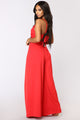 Strike A Pose Tie Jumpsuit - Red