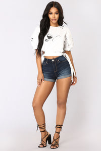Blakely Crop Top - White/Black