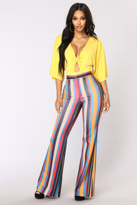 Stripe It Up High Rise Pants - Multi
