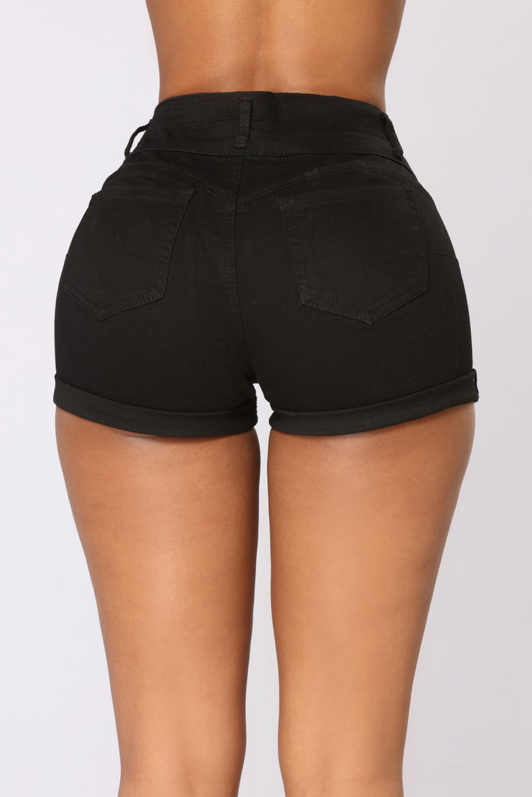 Jessica Booty Lifting Shorts - Black
