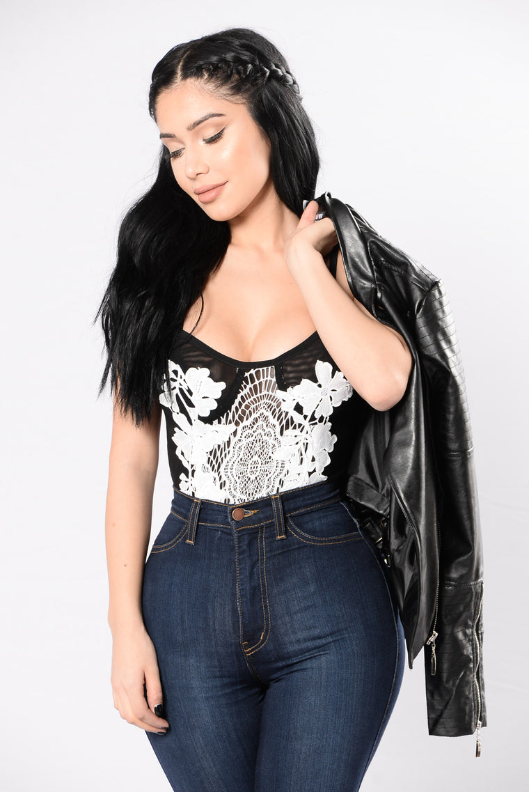 Love Me Bodysuit - White/Black