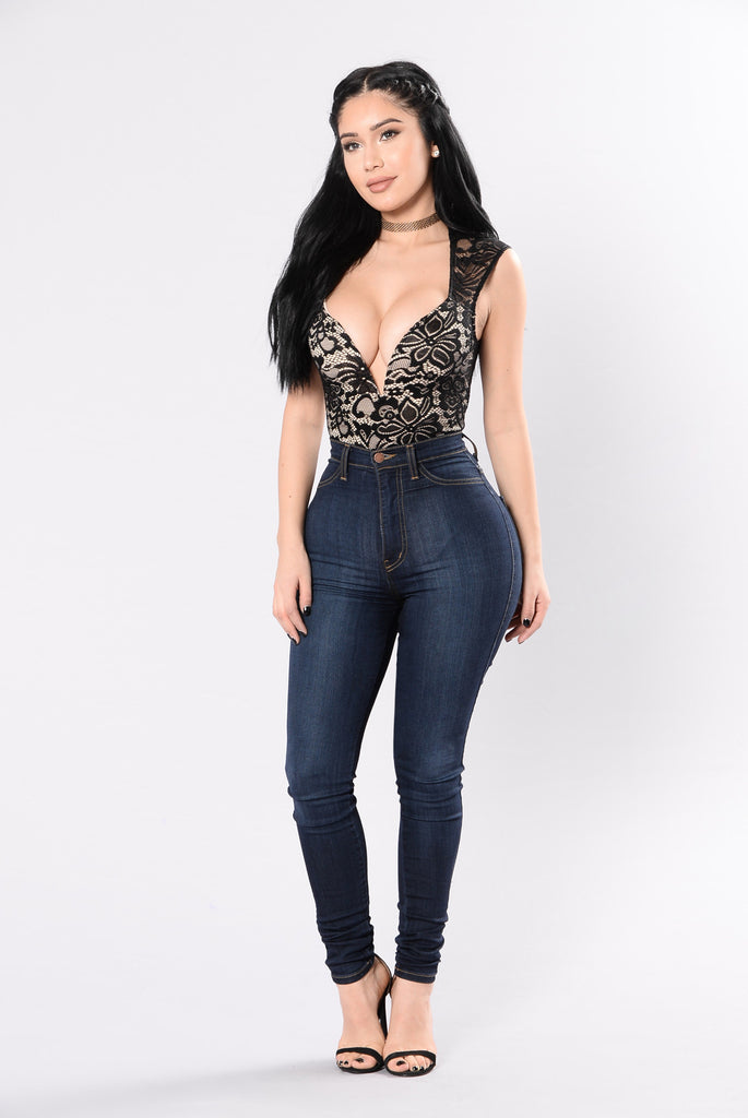 Sweet Sweet Sugar Bodysuit - Black