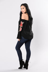 Ashes and Roses Top - Black