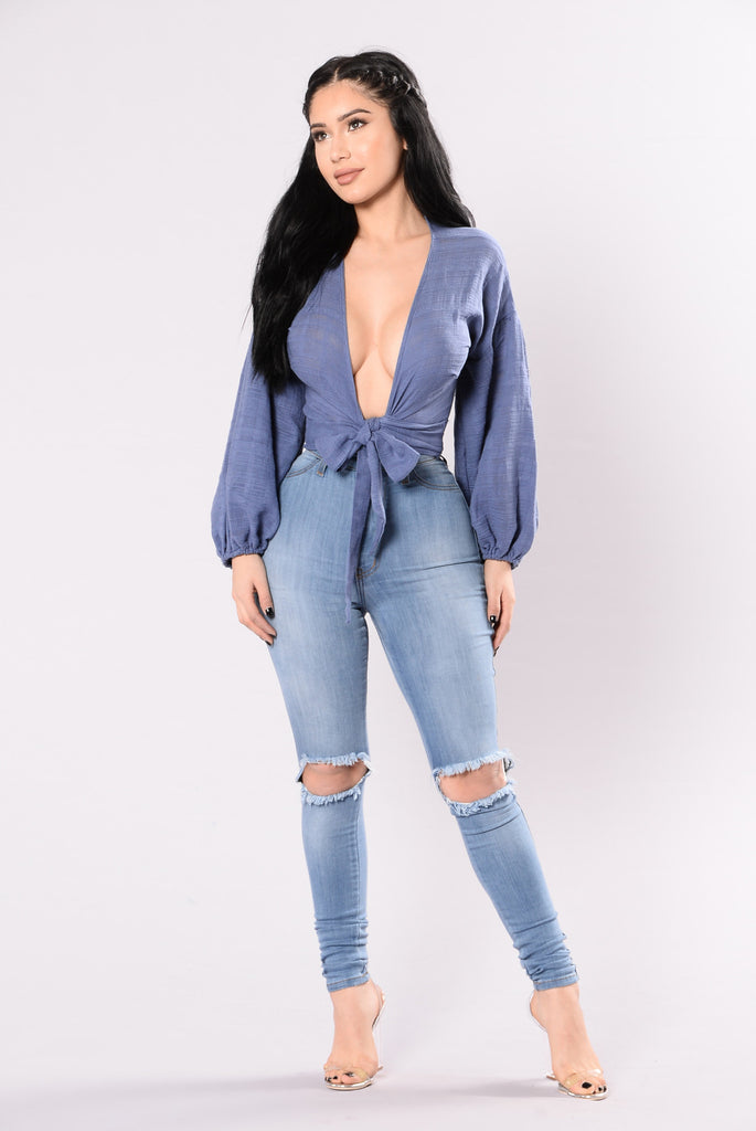 Keep It Up Top - Denim Blue