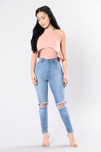 Into The Groove Bodysuit - Rose