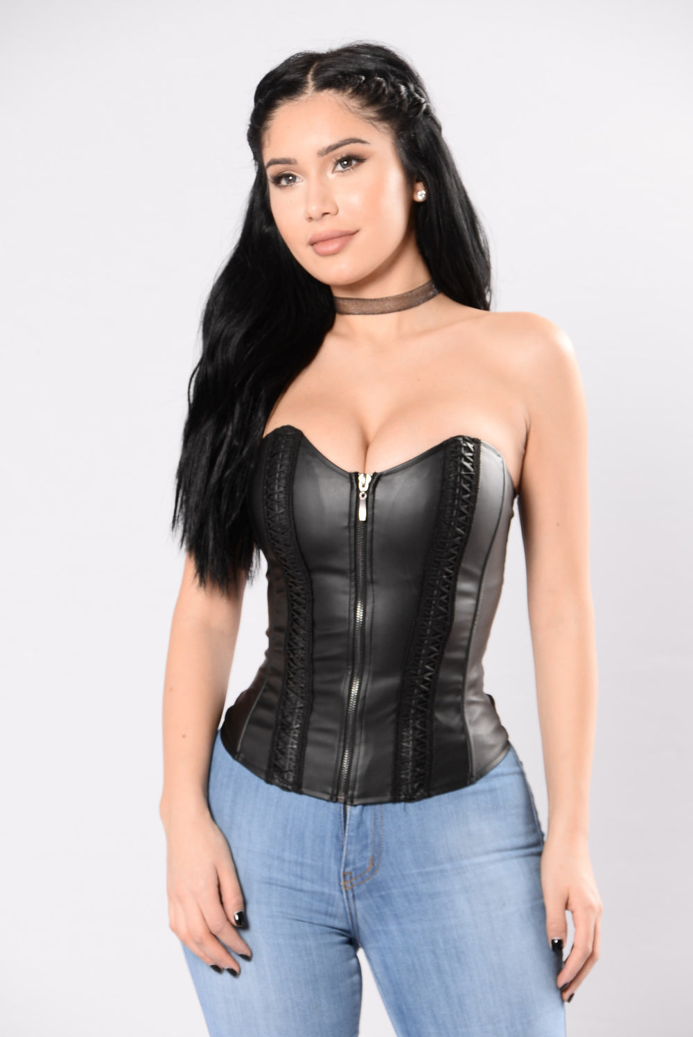 Leather Or Not Top - Black