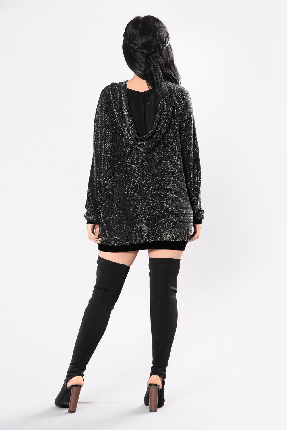 That's The Way It Is Tunic - Black/Silver