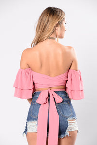 Wrap Your Arms Around Me Top - Rose