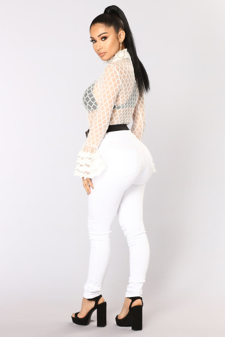 Elly Long Sleeve Top - White