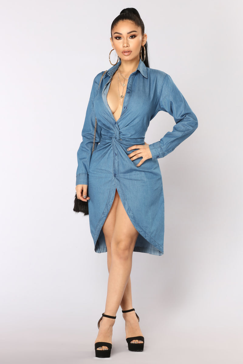 Knot Available Tunic - Denim