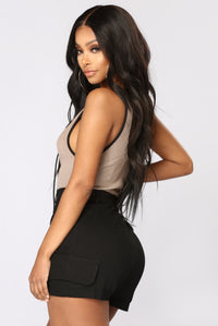 Fierce Woman Bodysuit - Mocha