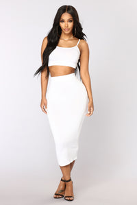No Manners Skirt Set - White Angle 1