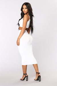 No Manners Skirt Set - White Angle 3