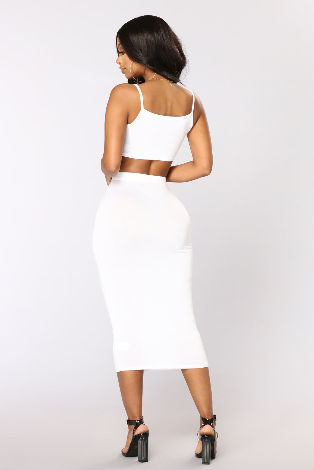 No Manners Skirt Set - White
