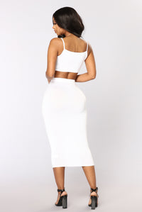 No Manners Skirt Set - White Angle 4