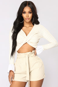 The Twist Of Love Top - Taupe
