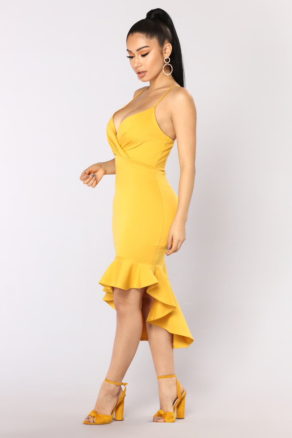 Down With It Dress - Mustard