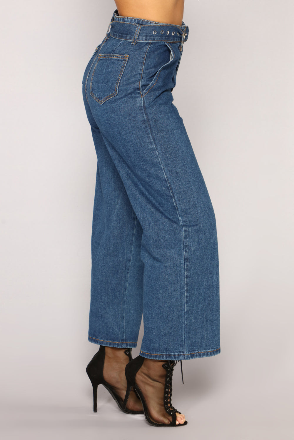 Not A Care Flare Jeans - Dark Blue