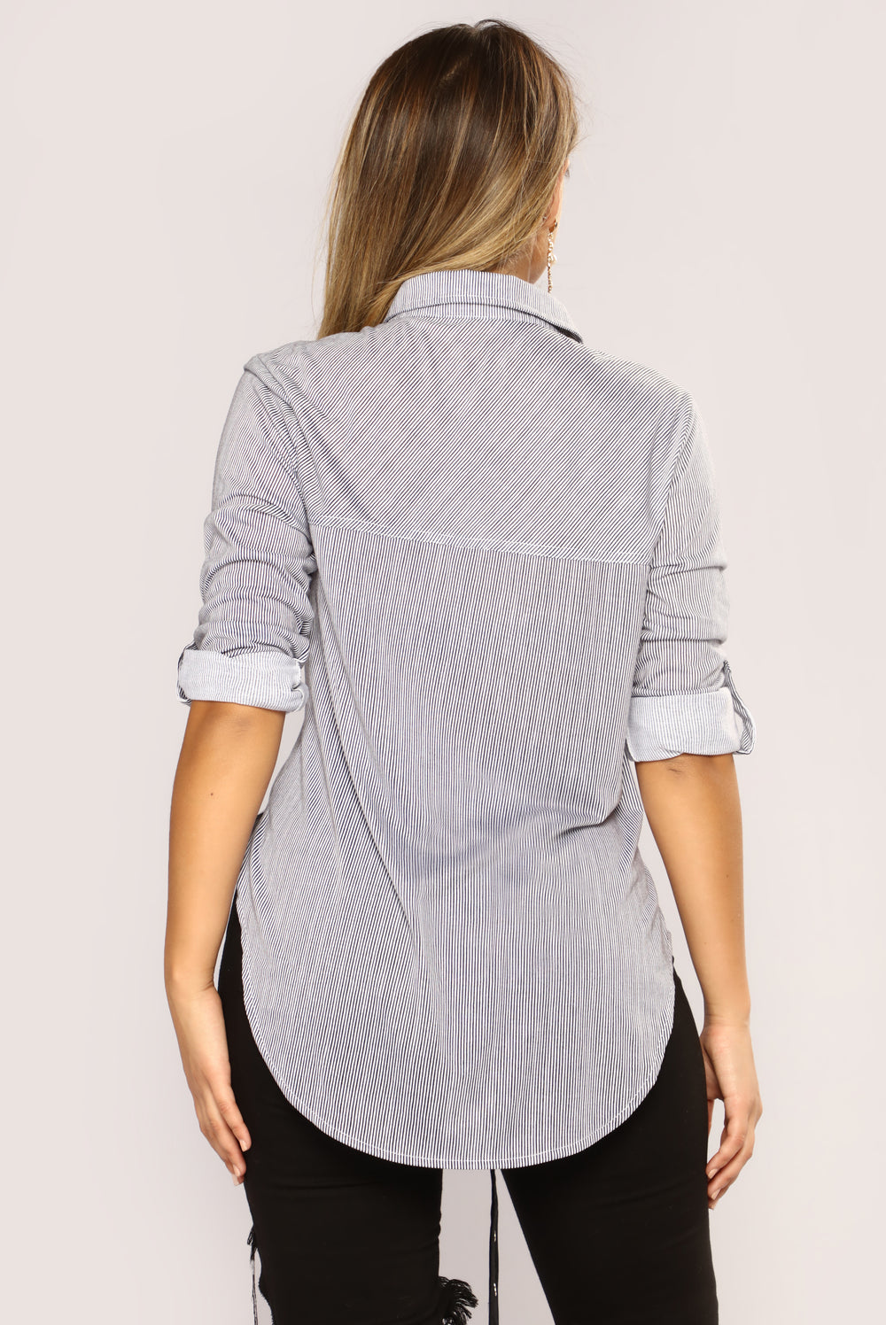 Lounge Lover Striped Top - Black Pattern