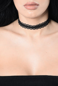 Need Love And Affection Choker - Black