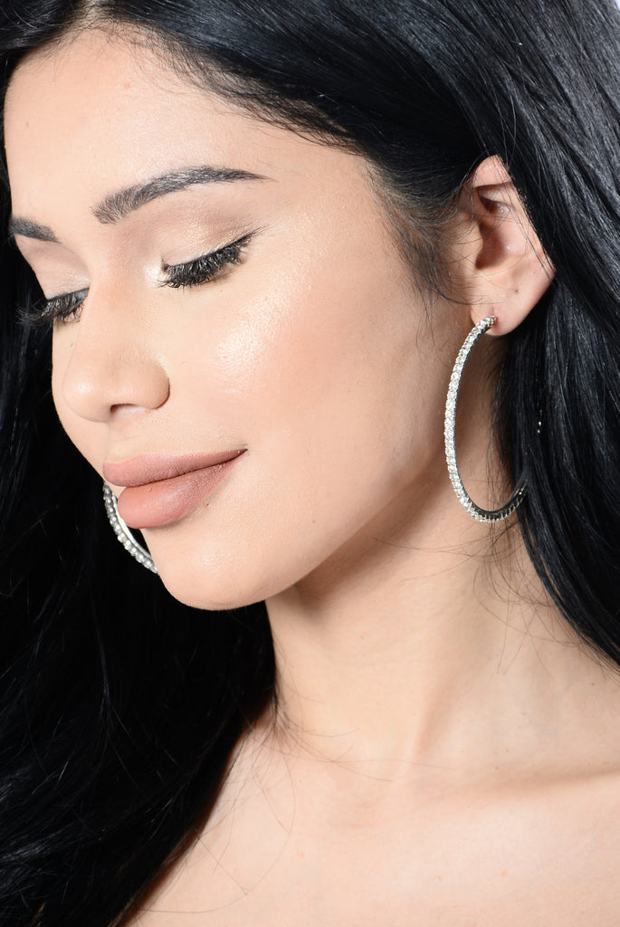 Just Too Much Earrings - Silver