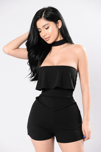 Only Hope Romper - Black