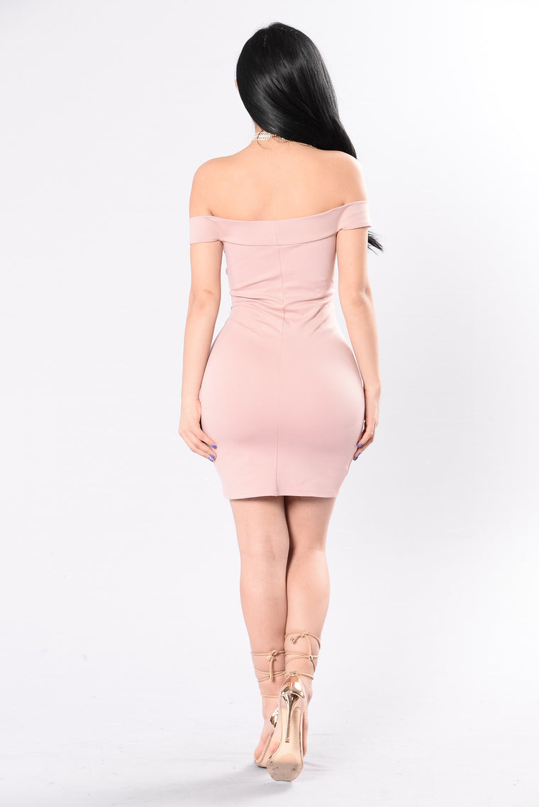 Never Disappoint Dress - Nude Rose